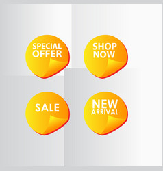 Discount sale special price new arrival text vector