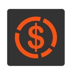 Dollar Diagram Icon vector image