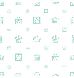 estate icons pattern seamless white background vector image