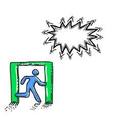 exit icon leave symbol-100 vector image