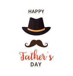 father day happy fathers day dad with hat and vector image