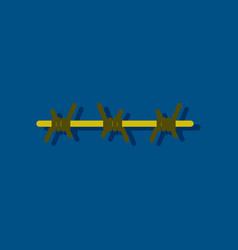 Flat icon design collection barbed wire vector