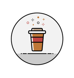 flat line coffee icon vector image
