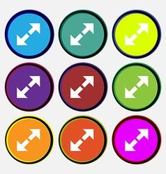 Full screen icon sign Nine multi colored round vector