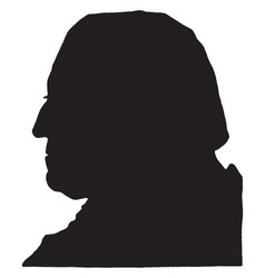 george washington - silhouette vintage vector image