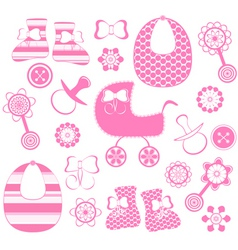 Girl newborn collection vector