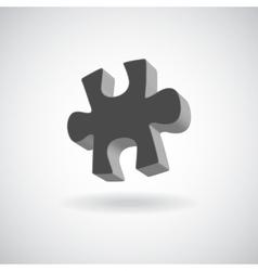 glossy puzzle web icon design element grey vector image