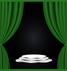 green theatre curtain vector image