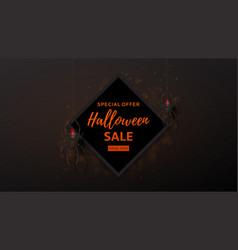 Halloween sale design web banner vector