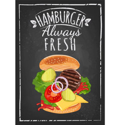hamburger poster vector image