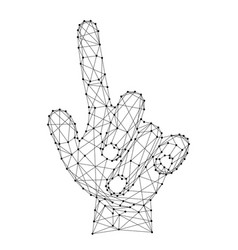 hand with an outstretched index finger or vector image