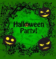 happy halloween festive poster vector image