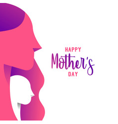 Happy mother day child love greeting card vector