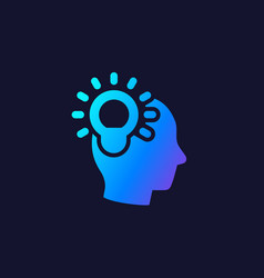 Idea insight and creative thinking icon vector