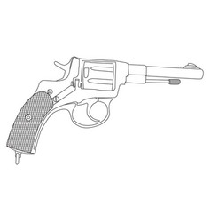 image of the revolver vector image