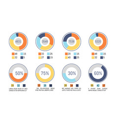 infographic pie diagrams business representation vector image
