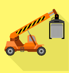 lifting truck icon flat style vector image