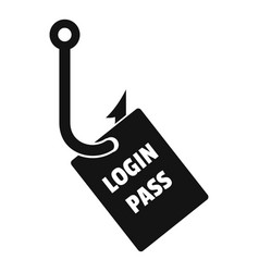Login pass fishing icon simple style vector