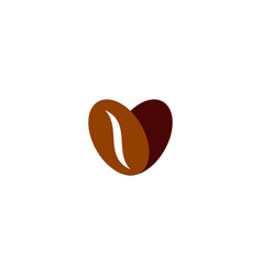 Love coffee logo icon design vector