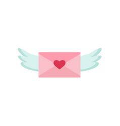 love letter with wings icon valentine s day vector image