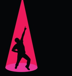 Man dancing black silhouette pose vector