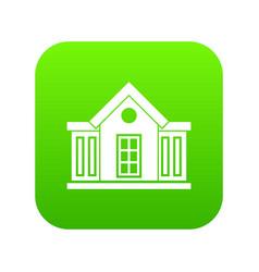 Mansion icon digital green vector
