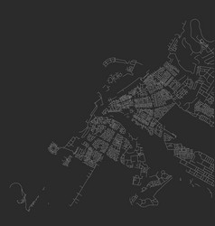map abstract city in black and white vector image