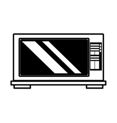 Microwave domestic appliance outline vector