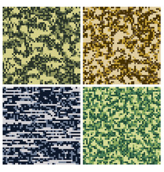 Military camouflage army uniform fabric vector