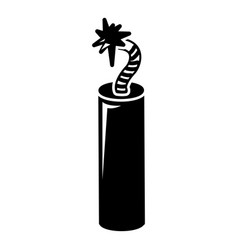 Mine dynamite icon simple style vector