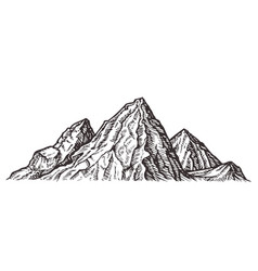 mountain landscape nature sketch vector image