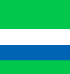 National flat flag of sierra leone vector