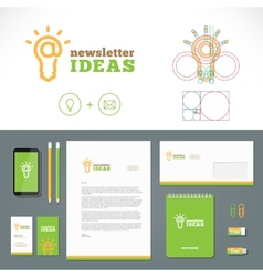Newsletter Ideas Logo and Identity Template vector