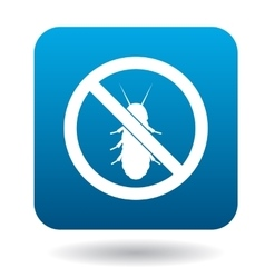 No termite sign icon simple style vector