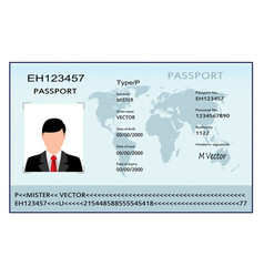 Passport with biometric data vector