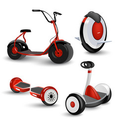 Realistic self-balancing gyro two-wheeled board vector