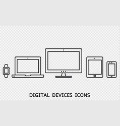 responsive web design icons vector image