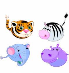 safari animal set vector image