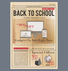 school brochure education training course old vector image