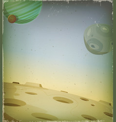 Scifi grunge alien planet background vector