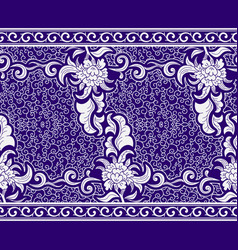 seamless border in the chinese style blue vector image