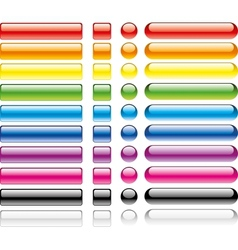 set colorful web buttons vector image