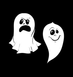 set of ghost characters emoticons isolated on vector image