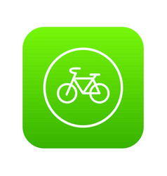 sign bike icon digital green vector image