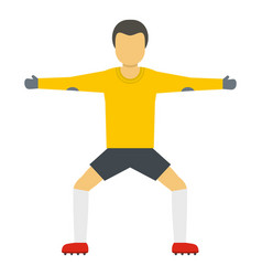 standing goalkeeper icon flat style vector image