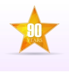 Star background anniversary 90 vector
