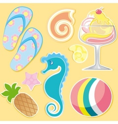 Summer elements vector