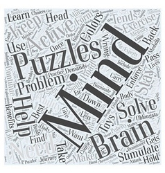 Toys and Mind Puzzles Word Cloud Concept vector image