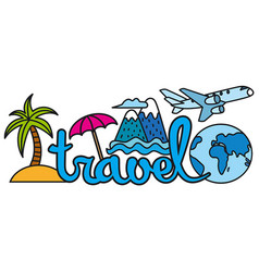 travel and resort logo vector image