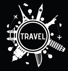 Travel and tourism logo vector image